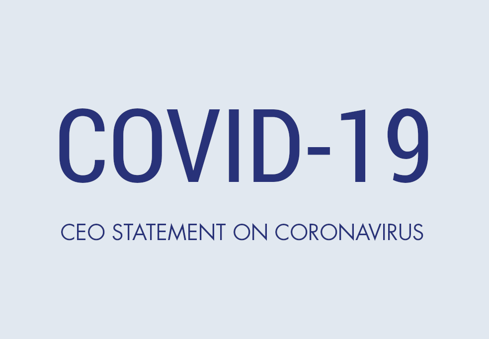 CEO statement on coronavirus