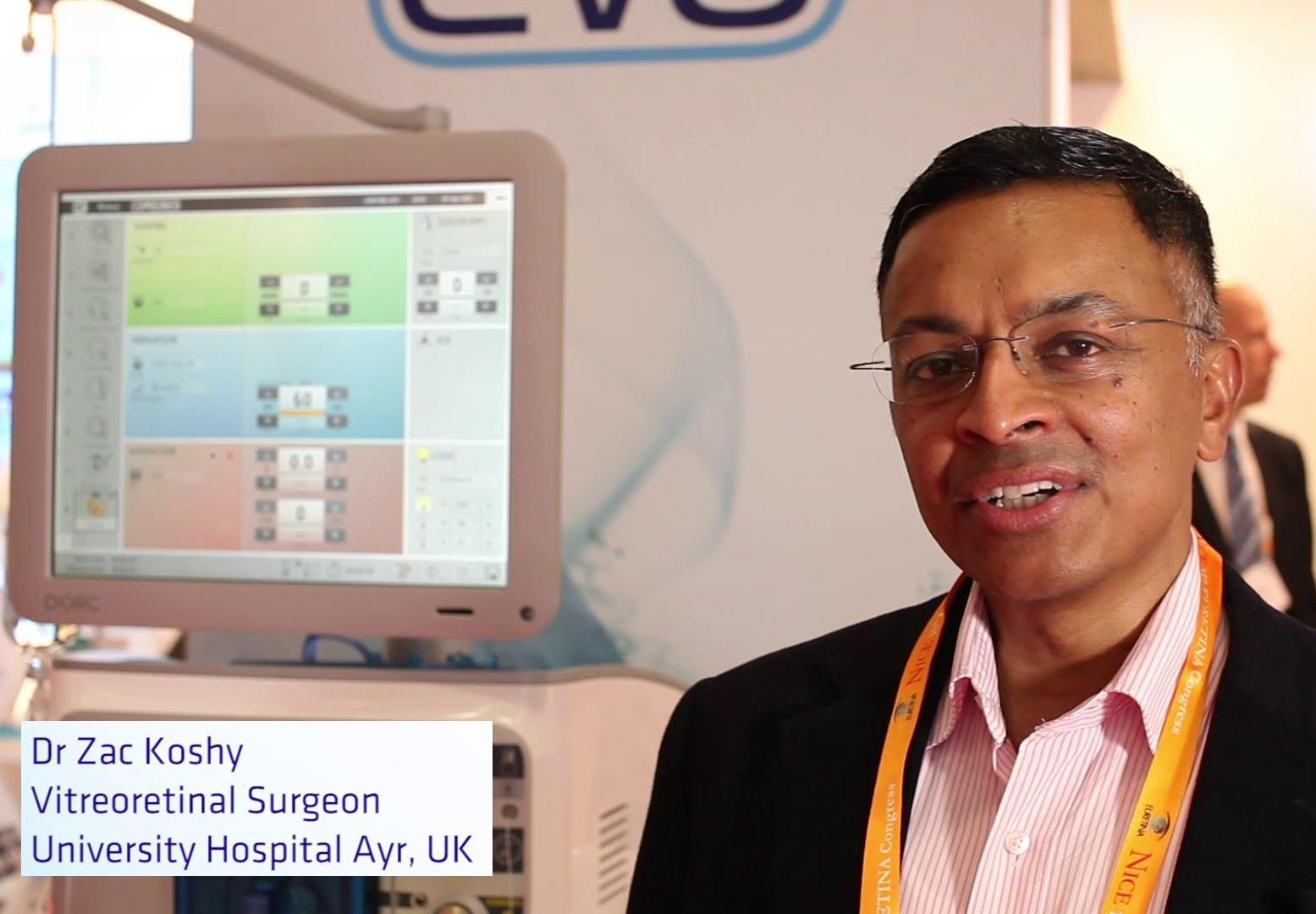 Dr Koshy about EVA phaco-vitrectomy system and 27G TDC cutter