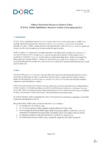 D.O.R.C. LSAS Policy