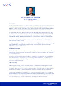 D.O.R.C. CEO Compliance Letter