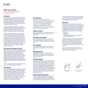 D.O.R.C. Global Code of Conduct